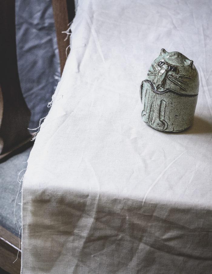 Ceramic Mint Cat