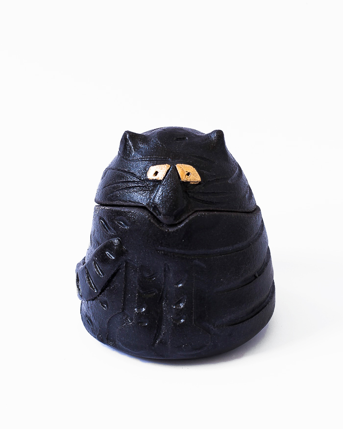 Black Cat Jar Front View