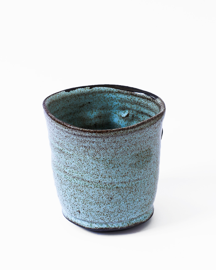Light Blue Face Cup Back View