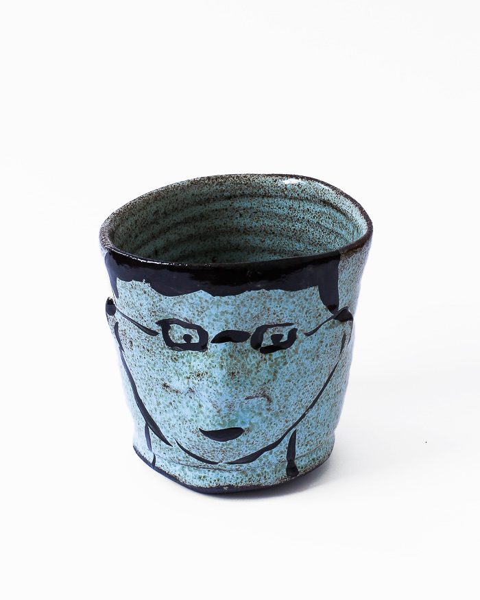 Light Blue Face Cup Front View