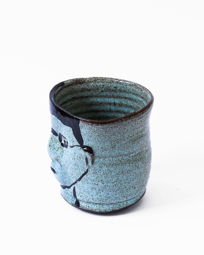 Light Blue Face Cup Left View