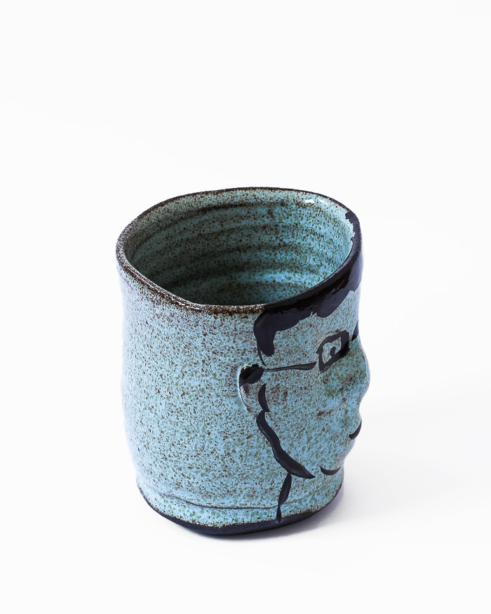 Light Blue Face Cup Right View