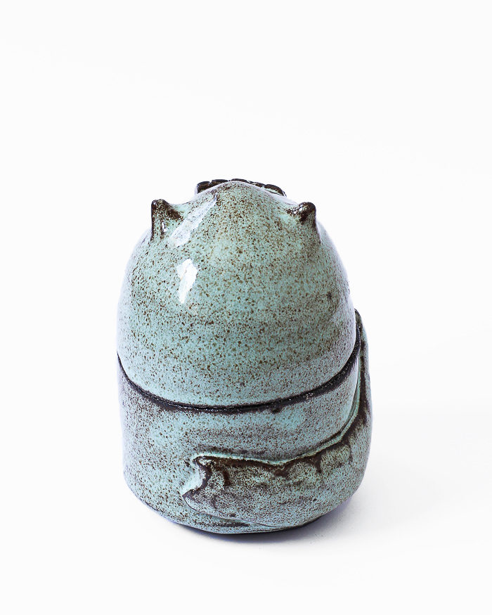 Mint Cat Jar Back View