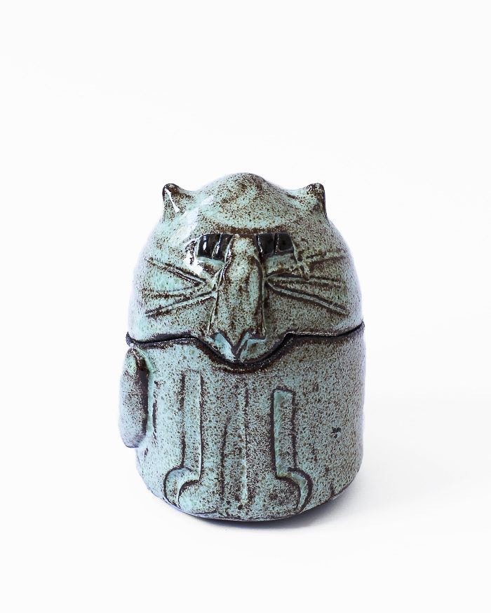 Mint Cat Jar Front View