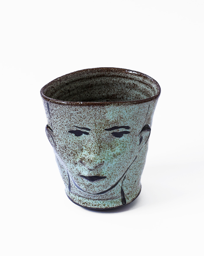 Mint Green Face Cup Front View