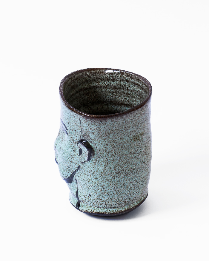 Mint Green Face Cup Left View