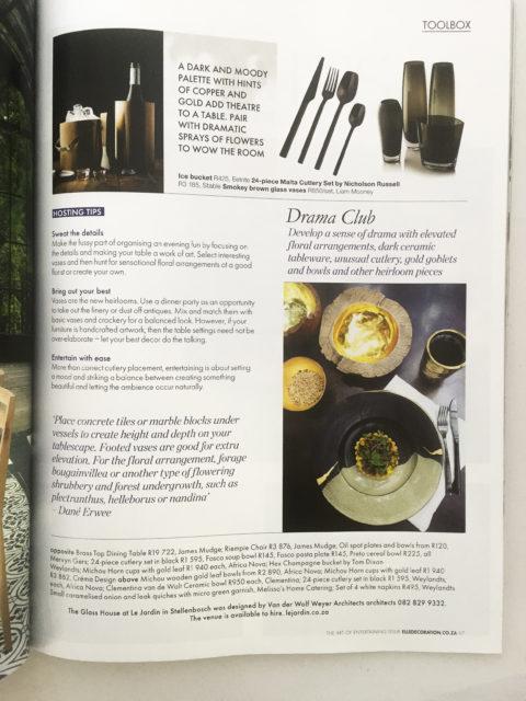 Clementina Ceramics in Elle Deco Magazine