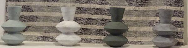 Zigzag composite vases for Black & White