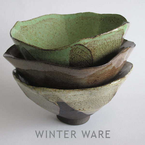 Winter Ware Tea Bowls by Clementina