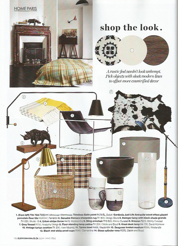 Elle Deco November 2017 Shop the Look