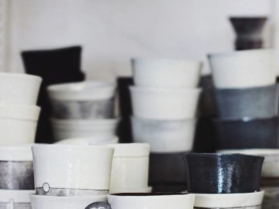 Clementina Ceramics Black White Grey