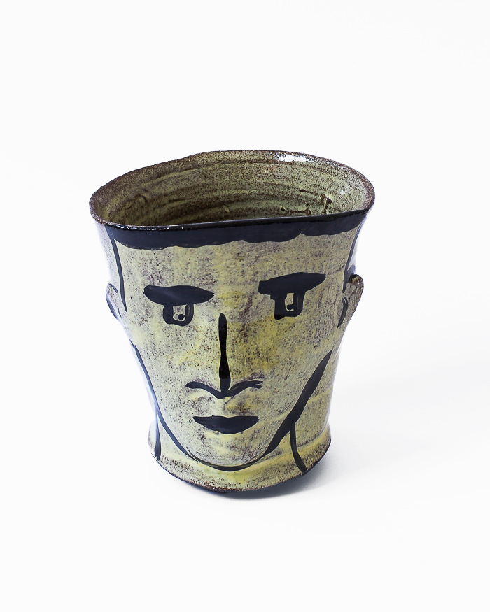 Light Yellow Face Cup Front View